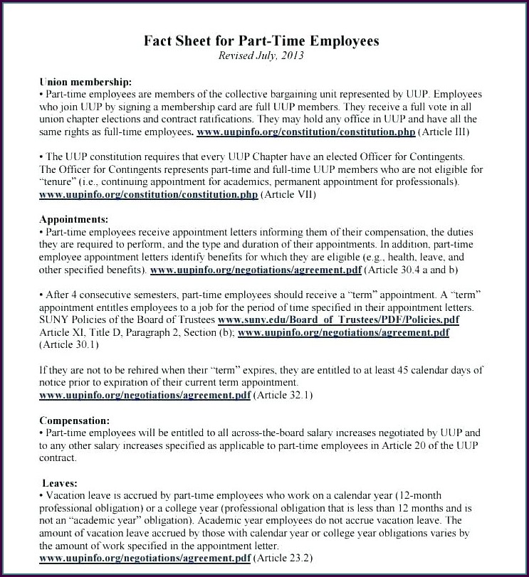 Full Time Employment Contract Template