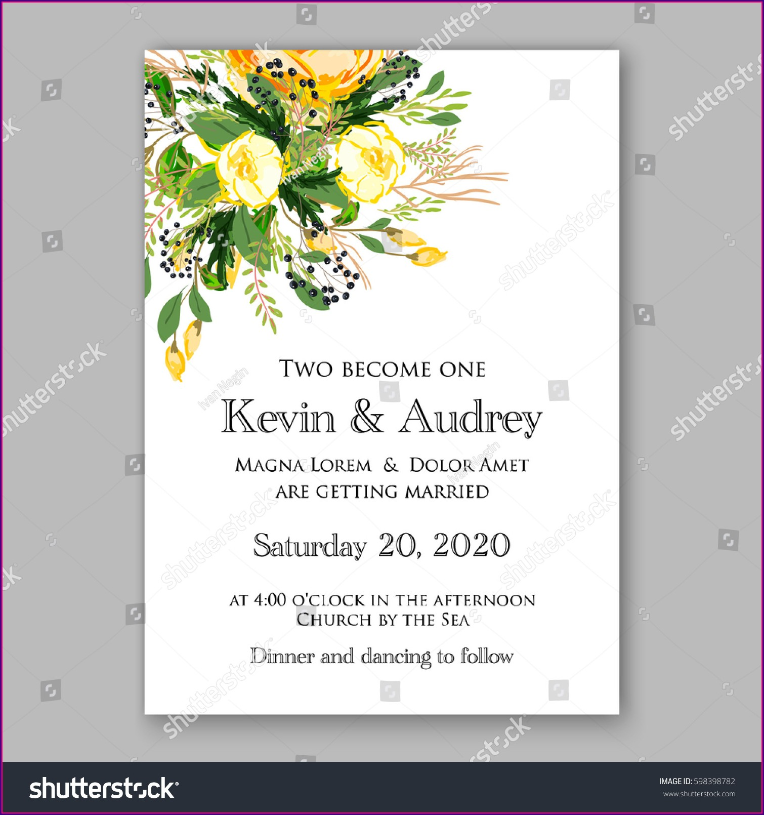 Gala Dinner Invitation Card Template