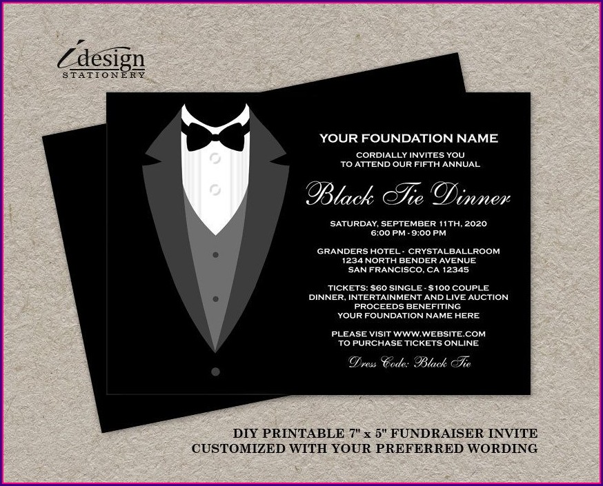 Gala Invitation Template Free Download