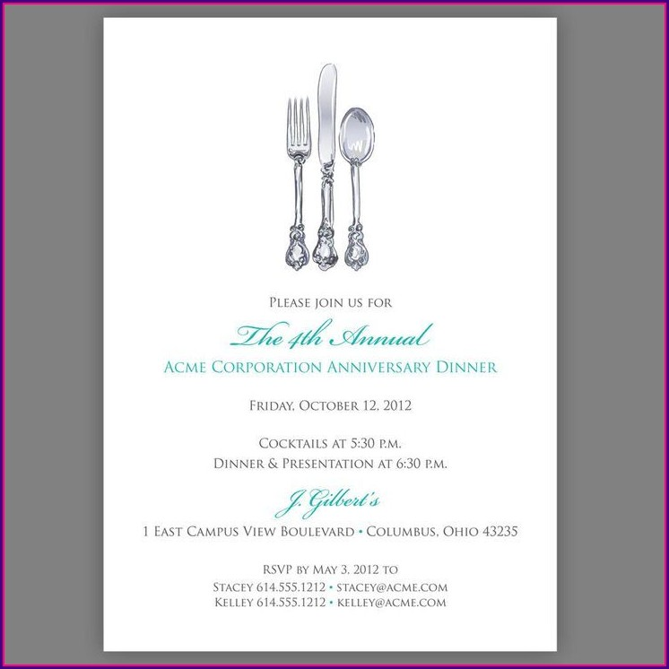 Gala Party Invitation Template