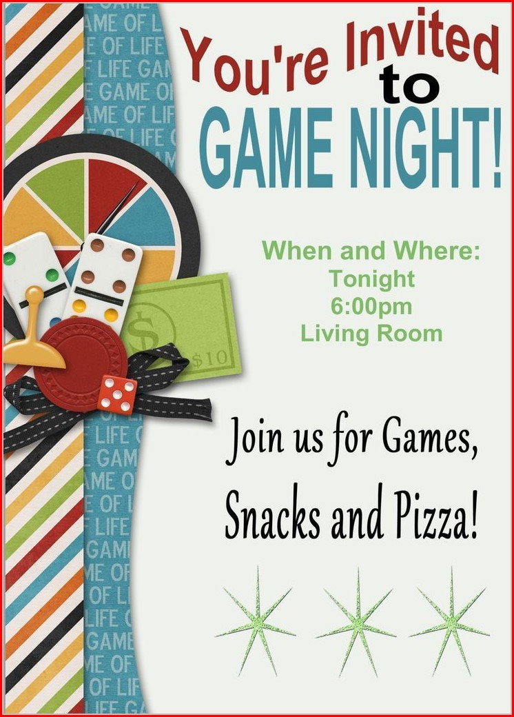 Game Night Invitation Template Free