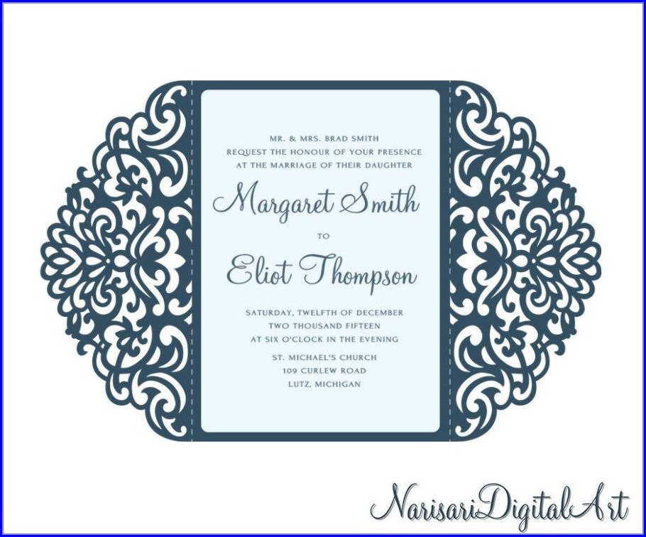 Gatefold Wedding Invitations Template