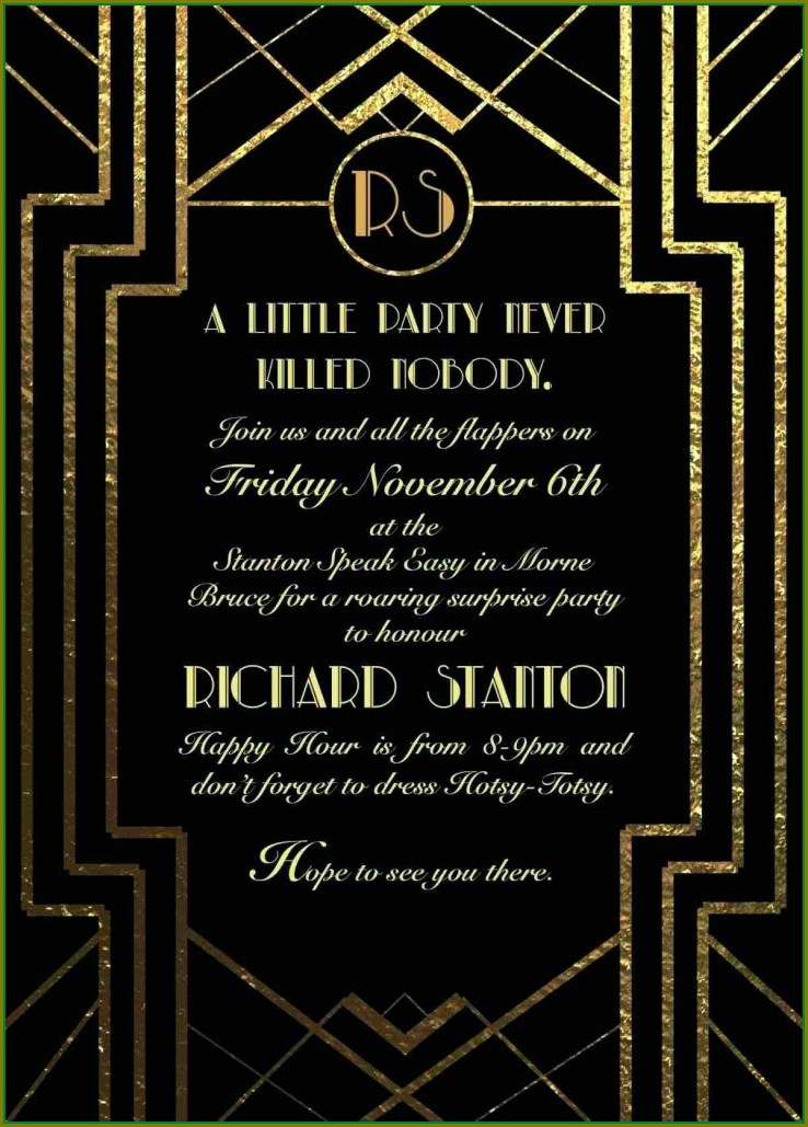 Gatsby Invitation Template