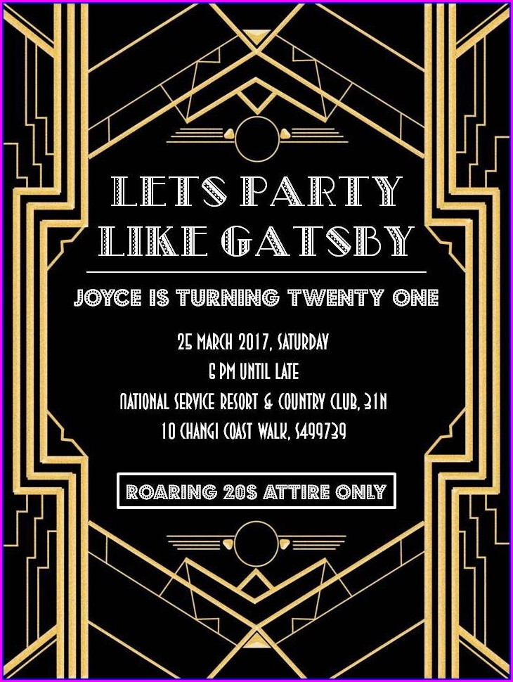 Gatsby Party Invitation Template