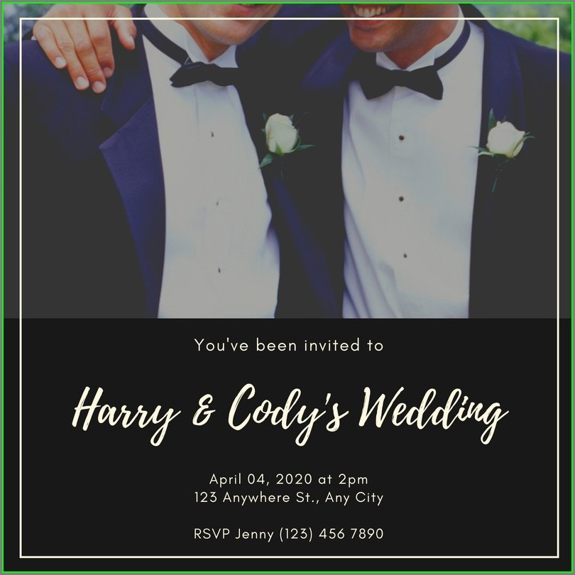 Gay Wedding Invitation Templates