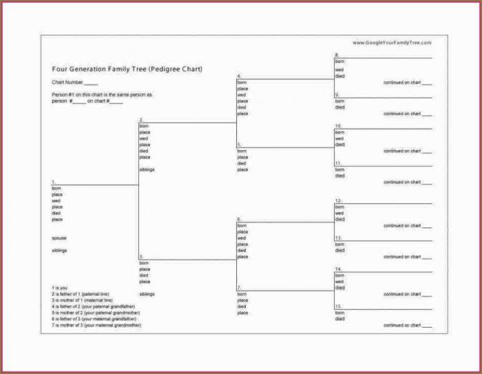 Genealogy Chart Template Word