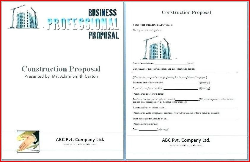 General Contractor Bid Sheet Template