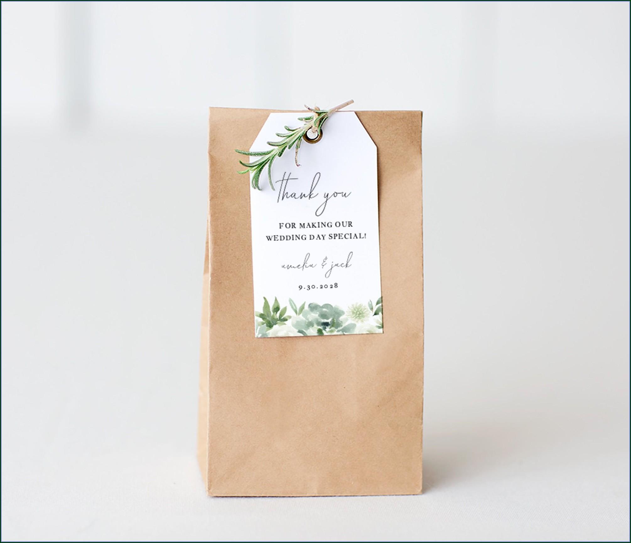 Gift Bag Tag Template