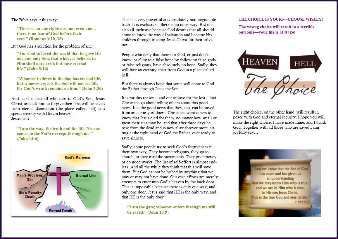 Gospel Tract Template
