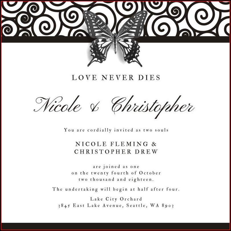 Gothic Wedding Invitation Templates