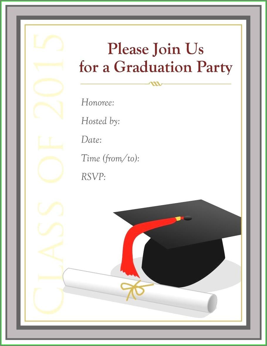 Graduation Ceremony Invitation Templates Free