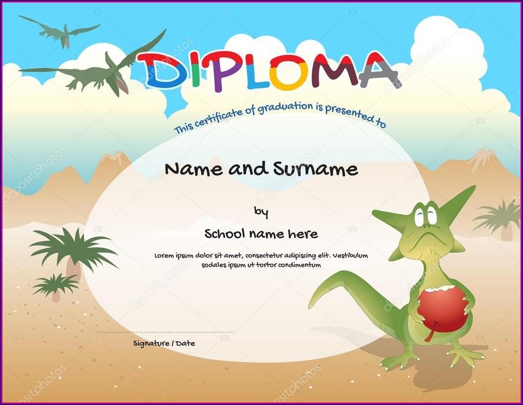 Graduation Kindergarten Certificate Template