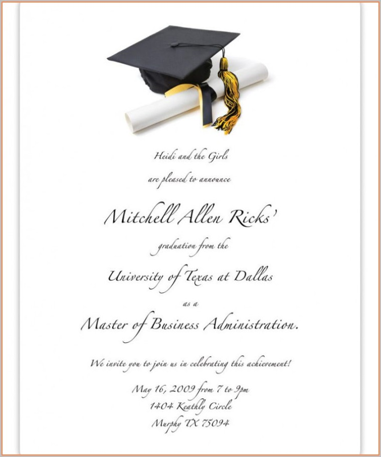 Graduation Party Announcement Templates