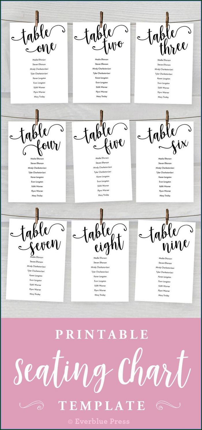 Guest List Table Seating Free Wedding Seating Chart Template Microsoft Word