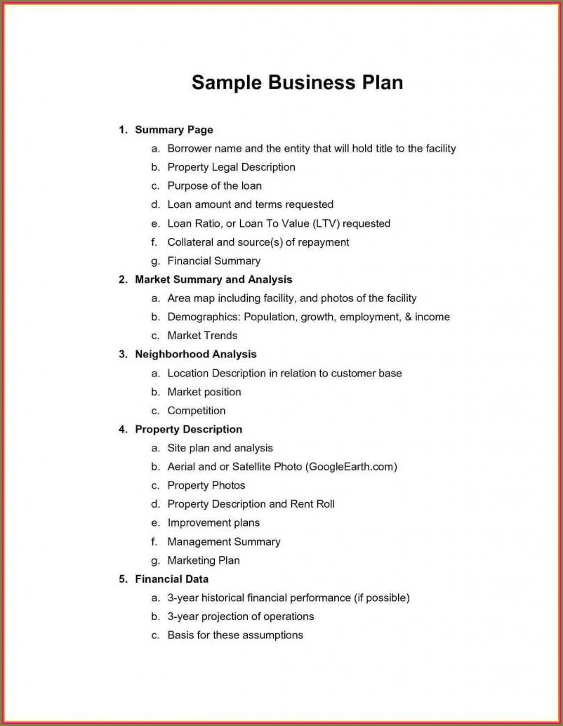 Gym Business Plan Template Pdf