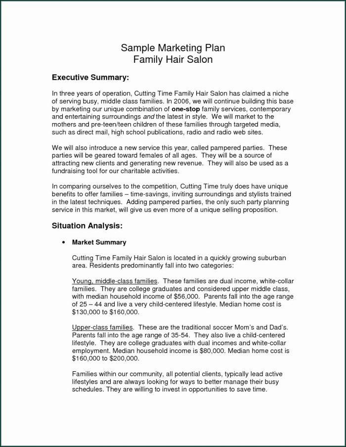 Hair Salon Business Plan Template