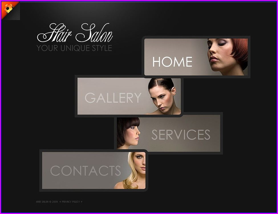Hair Salon Website Design Templates Free