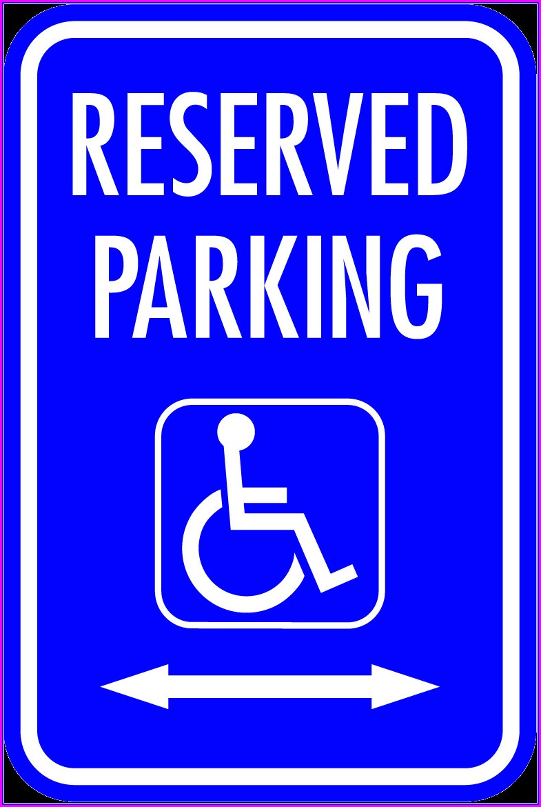 Handicap Parking Sign Template