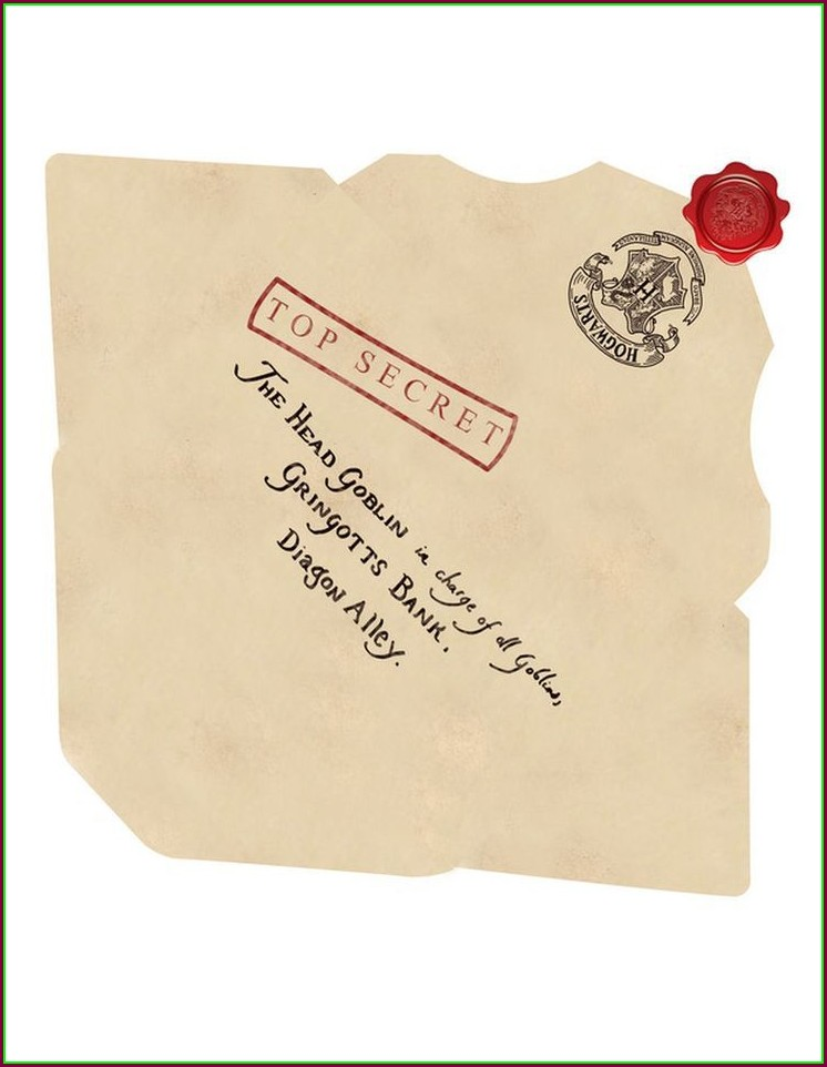 Harry Potter Hogwarts Letter Envelope Template