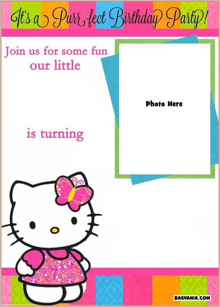 Hello Kitty Invitation Template Blank