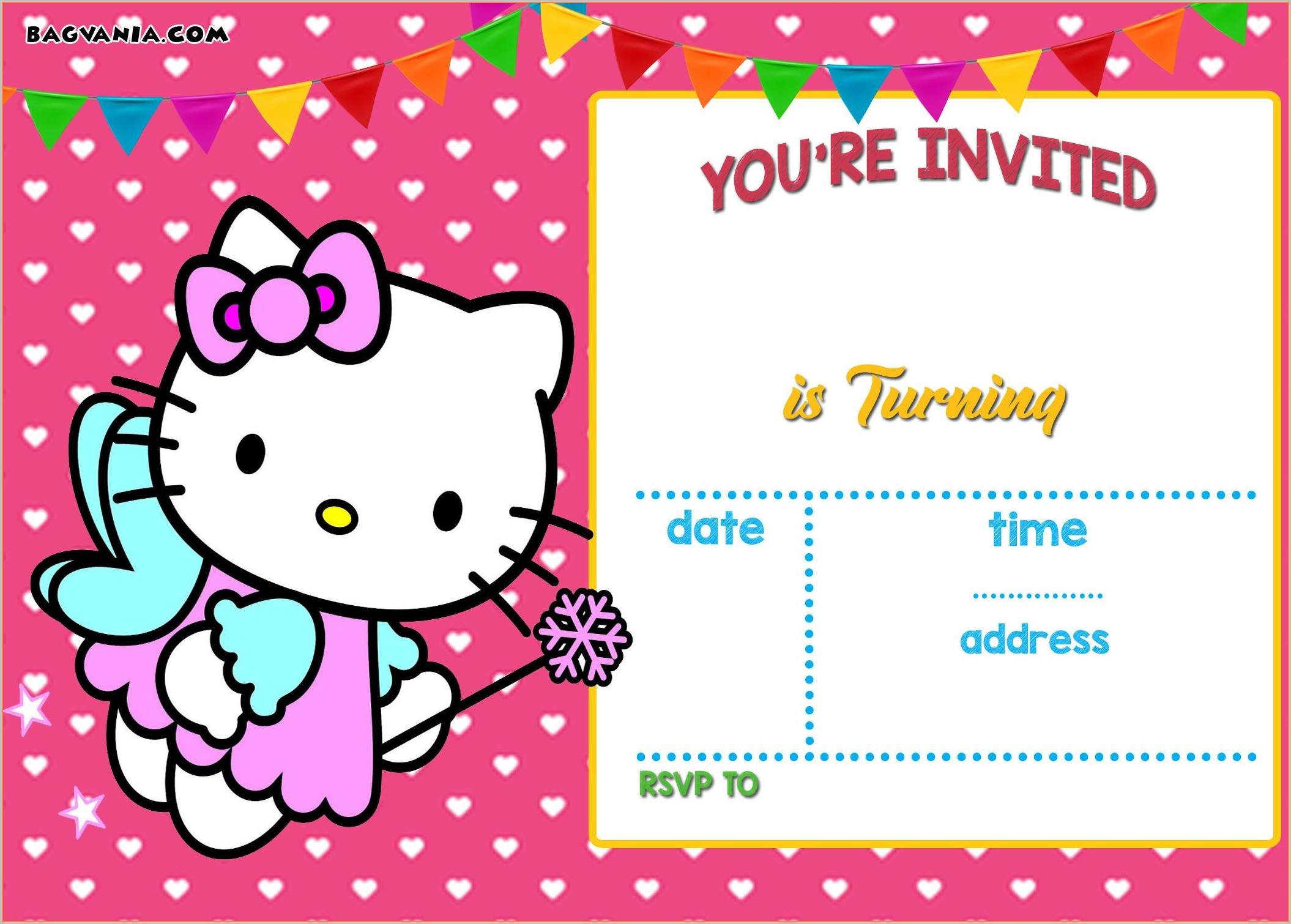 Hello Kitty Invitation Template Png