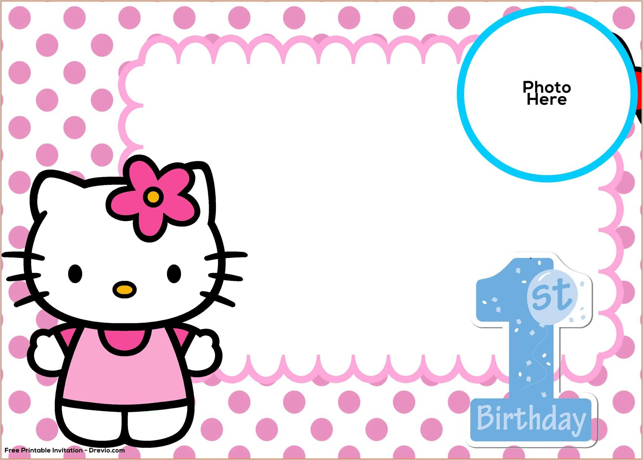 Hello Kitty Invitation Template