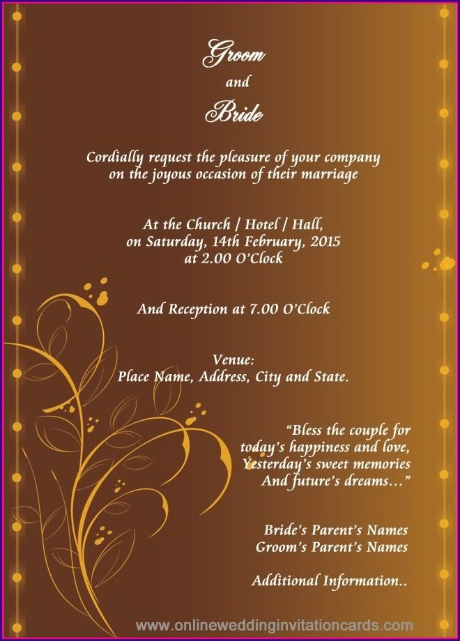 Hindu Wedding Card Templates