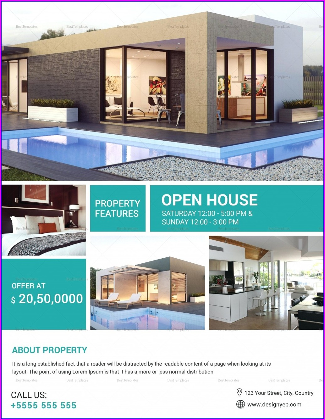 Home For Sale By Owner Flyer Template Free