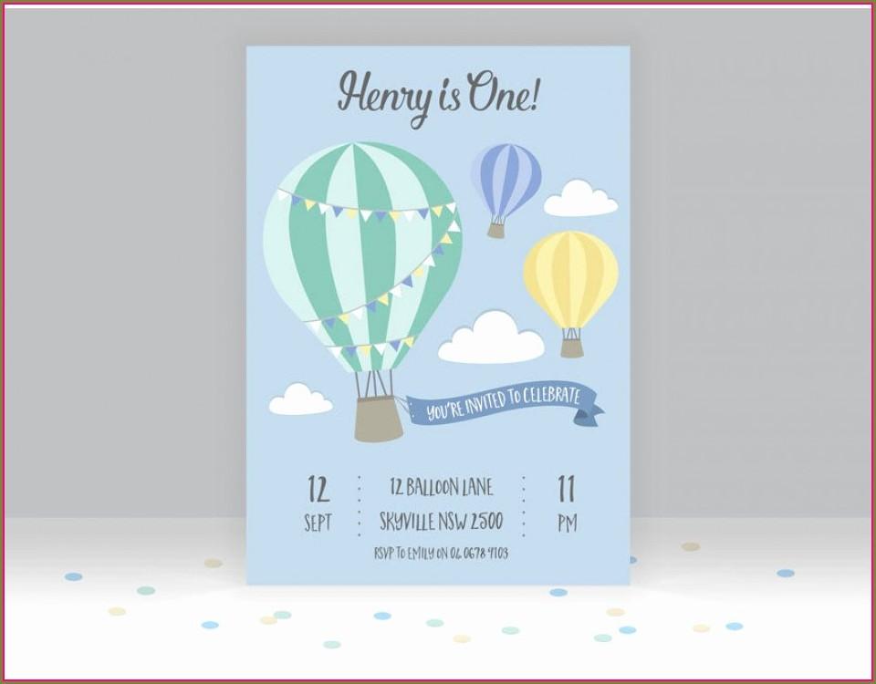 Hot Air Balloon Invitation Template