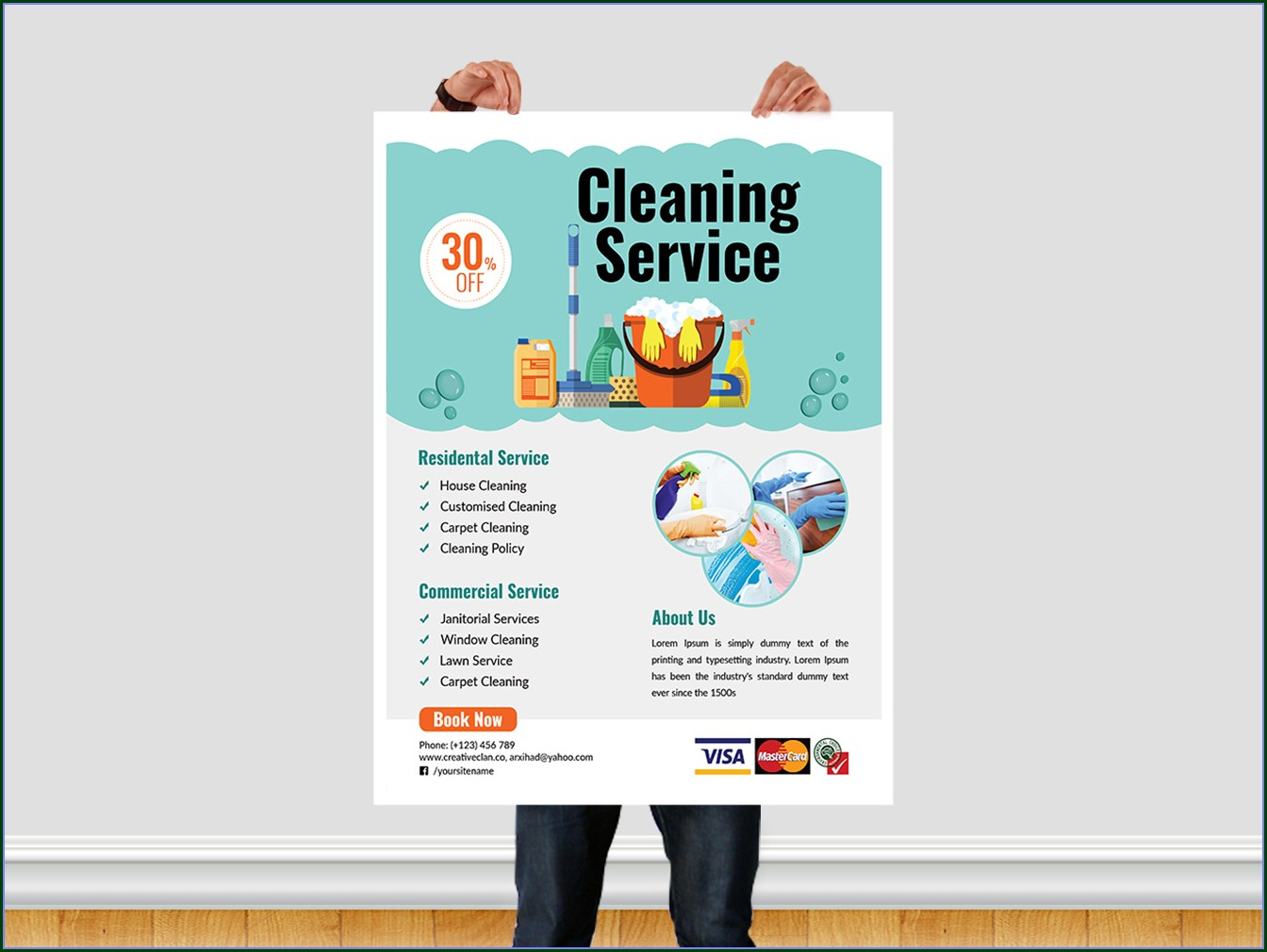 House Cleaning Brochure Templates Free