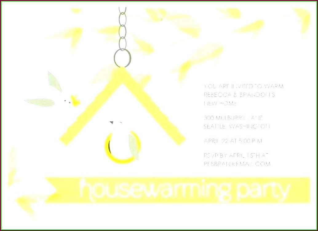 House Warming Invitation Template India