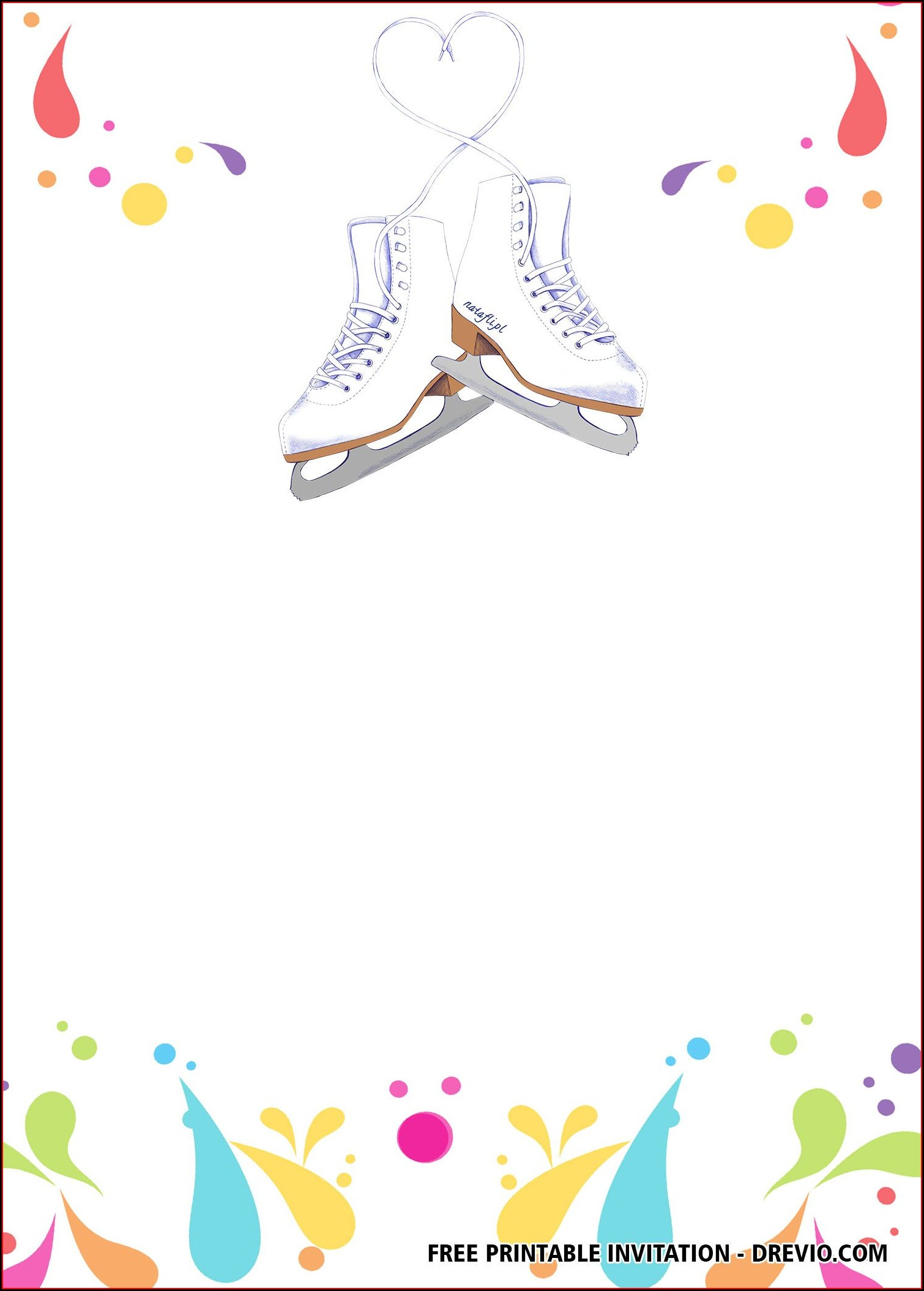 Ice Skating Invitations Templates