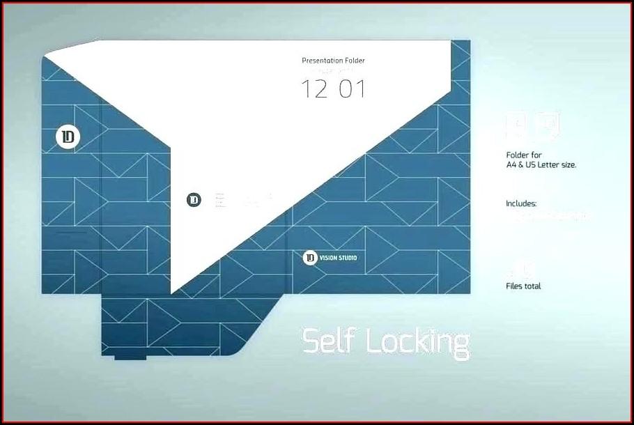 Indesign A4 Presentation Folder Template