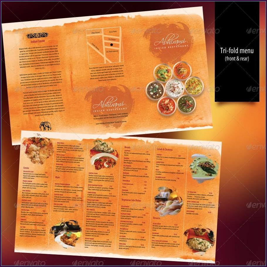 Indian Restaurant Menu Design Template