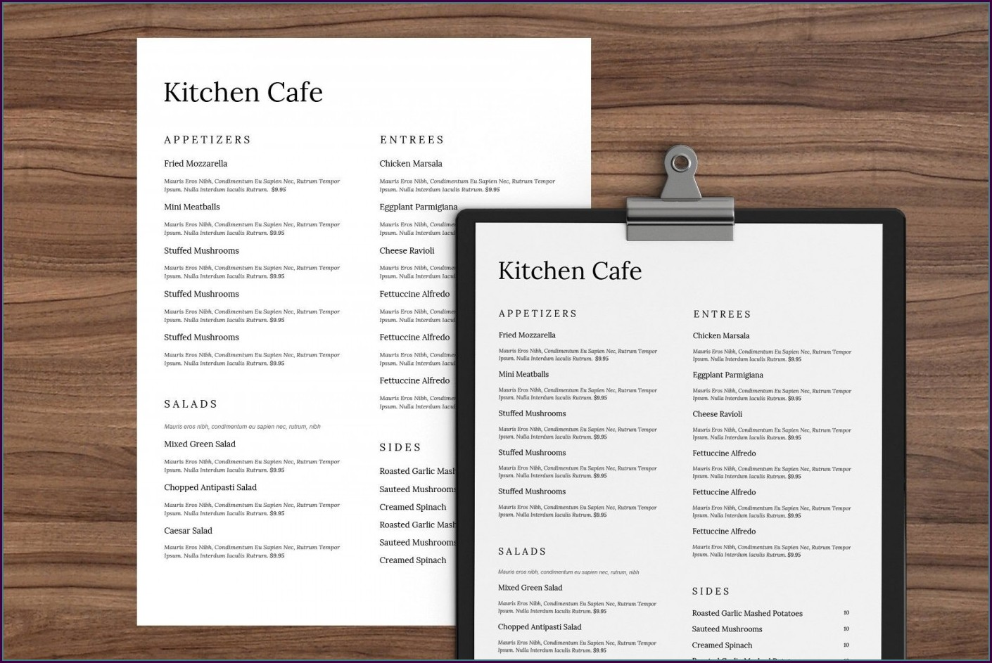 Indian Restaurant Menu Template Word