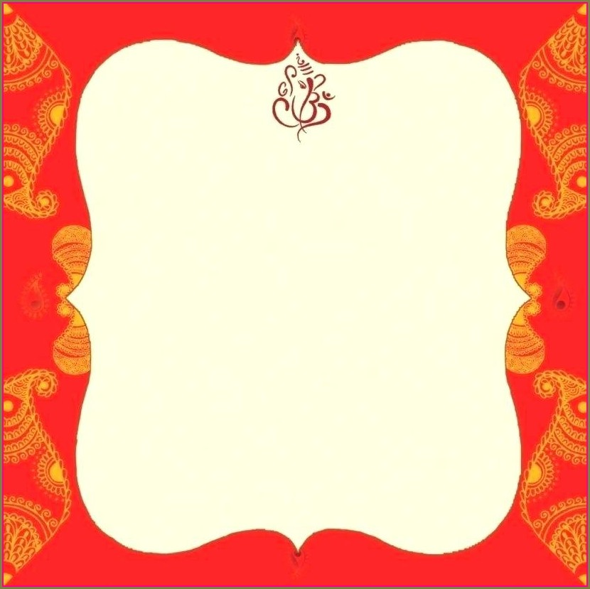 Indian Wedding Editable Hindu Wedding Invitation Cards Templates Free Download