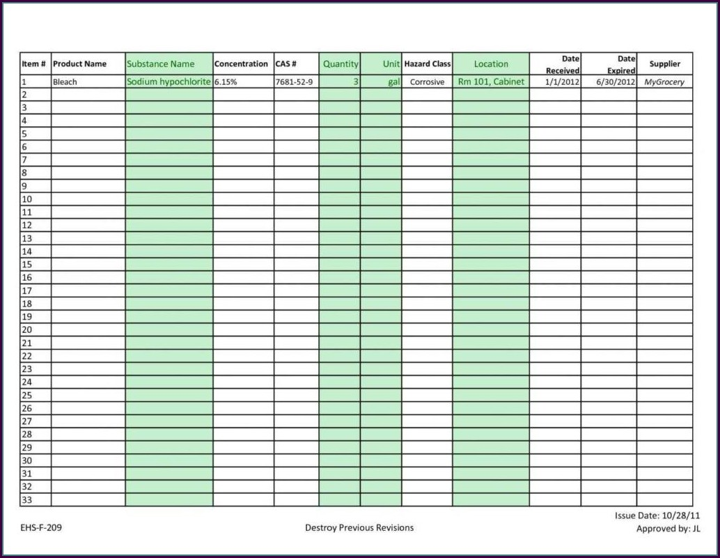 Inventory Tracking Template Excel