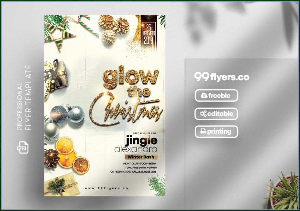 Invitation Template Christmas Party Flyer Template Free