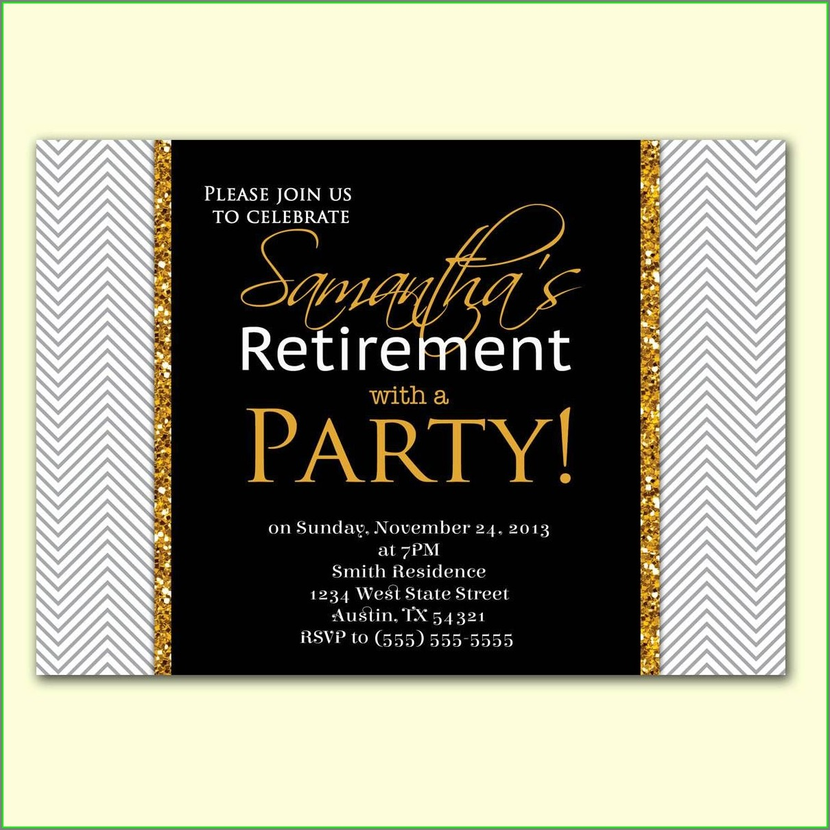 Invitation Template For Retirement Party