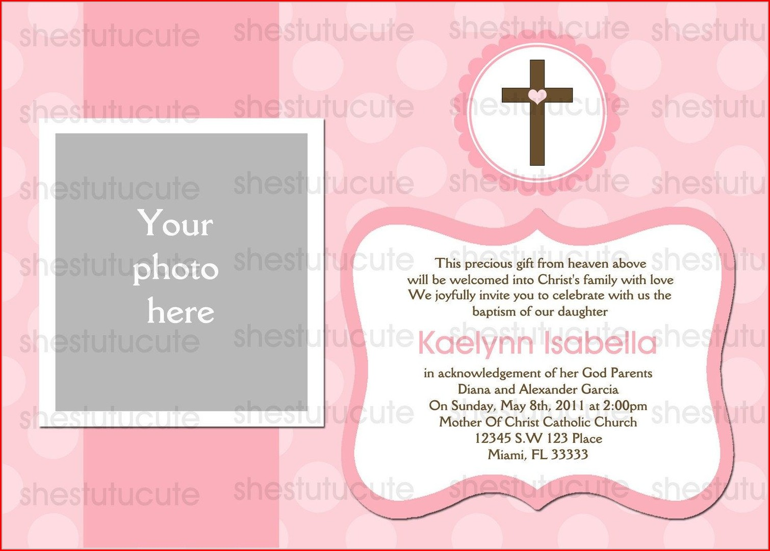 Invitation Templates Christening Invitation Background For Baby Girl