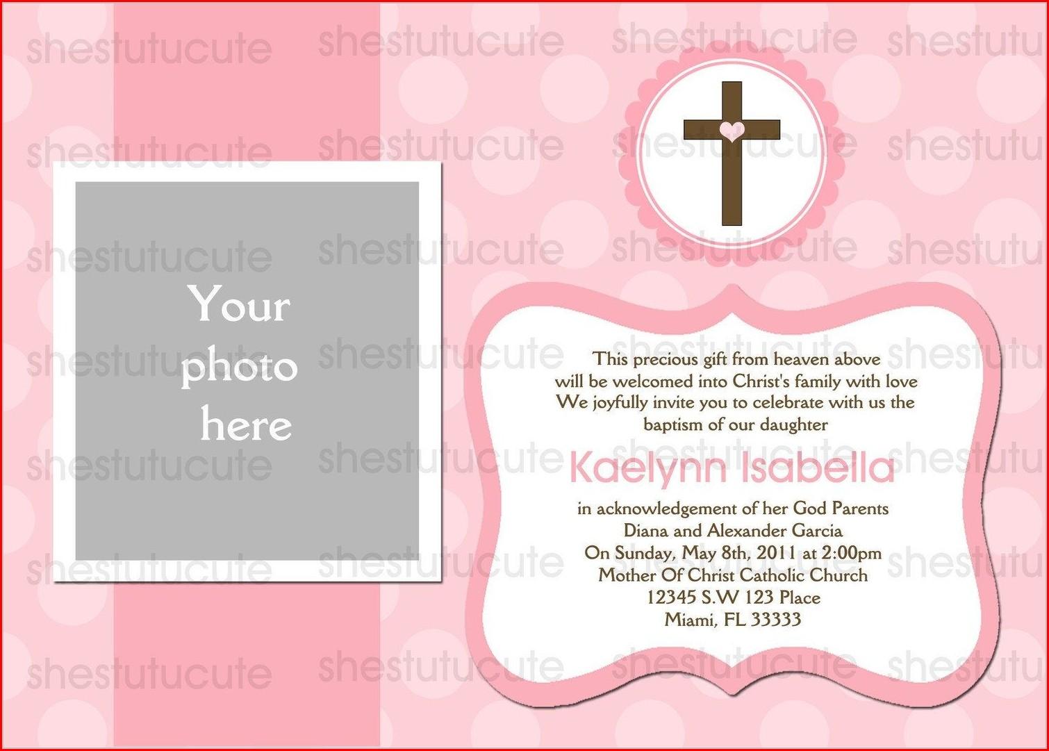 Invitation Templates Christening Invitation Background For Baby Girl