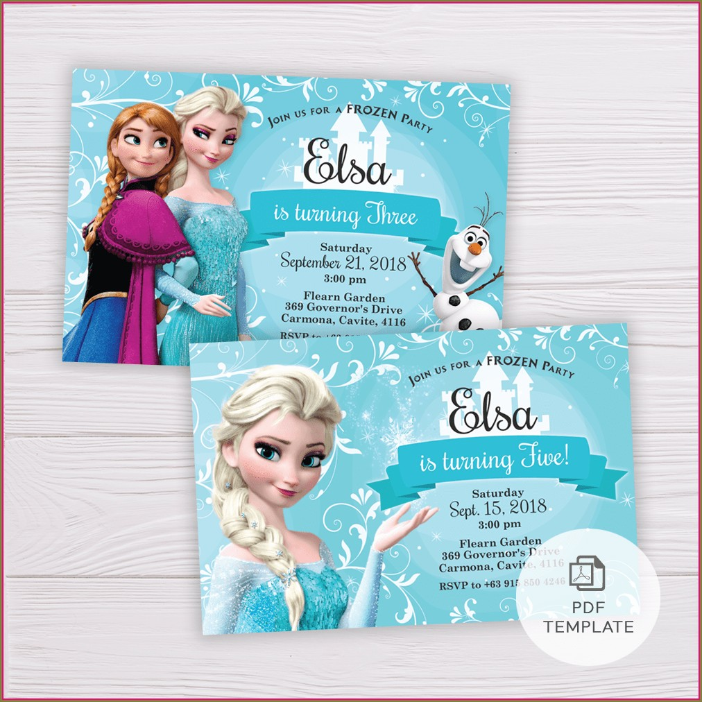 Invitation Templates Frozen 2 Party Invitations