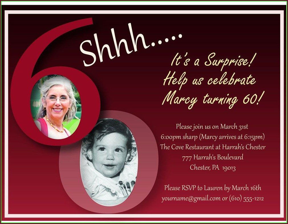 Invitations For 60th Birthday Party Templates