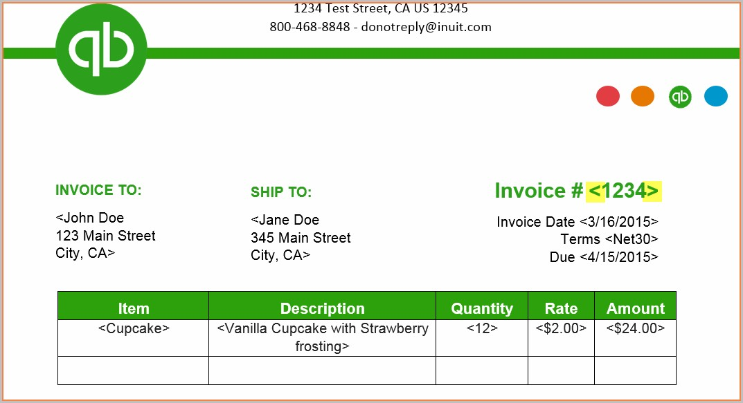 Invoice Templates For Quickbooks