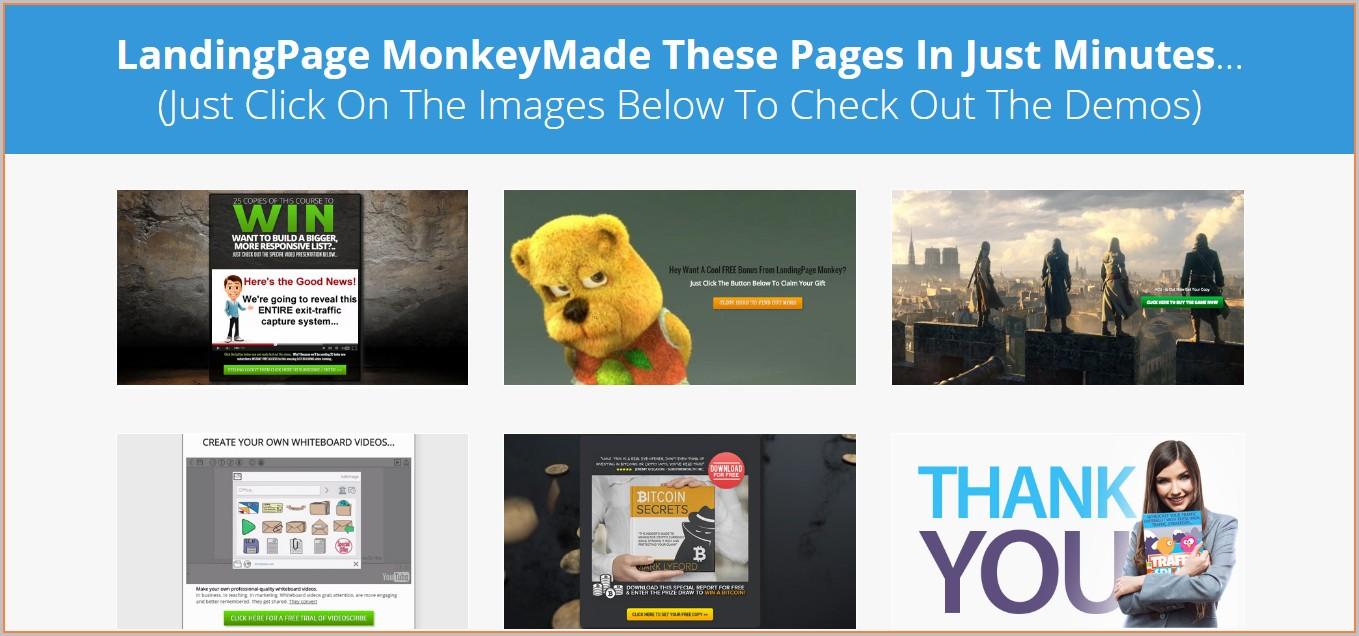 Landing Page Monkey Templates