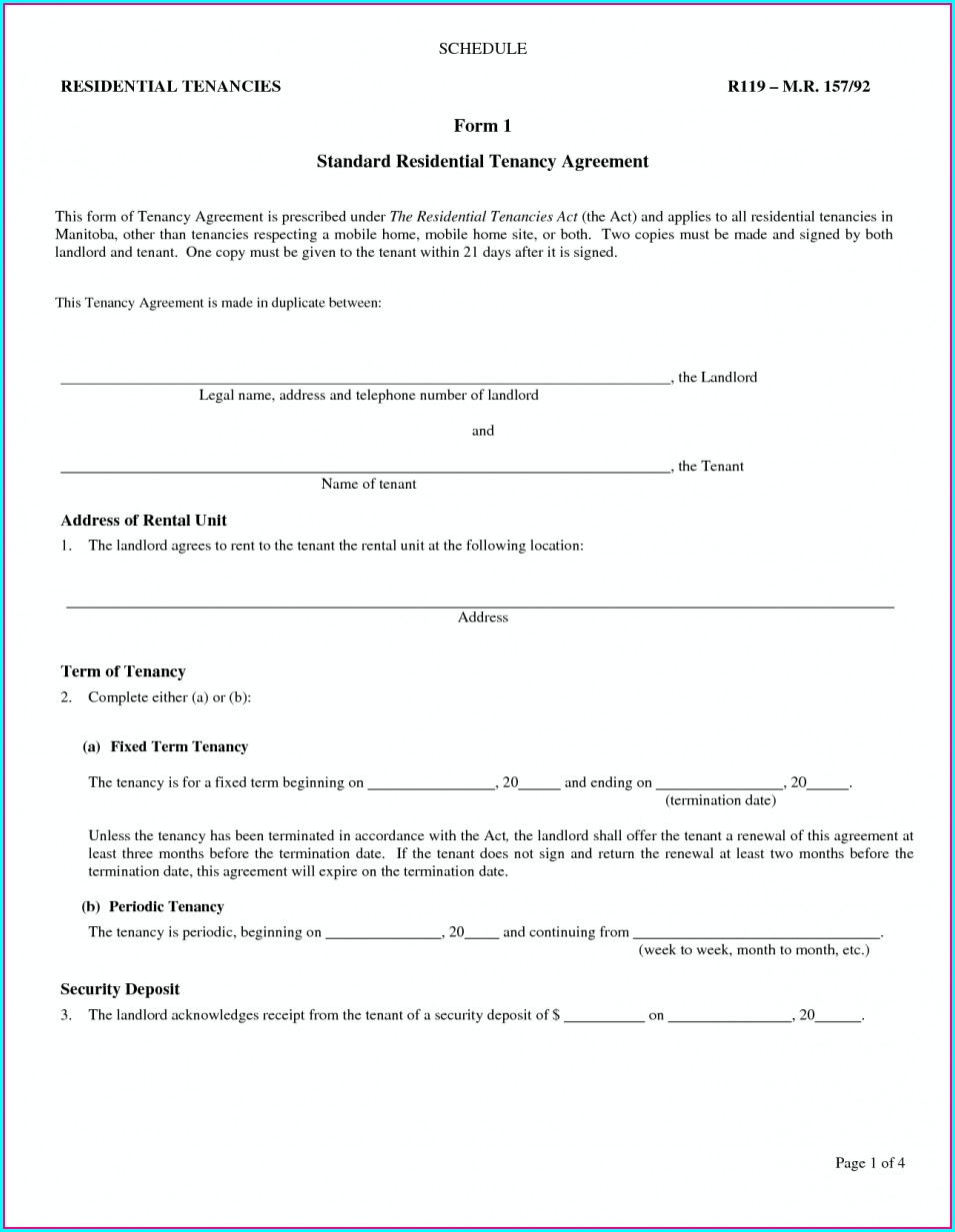 Landlord Agreement Template