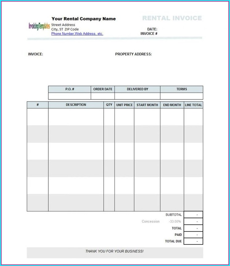 Landlord Free Rent Receipt Template Pdf