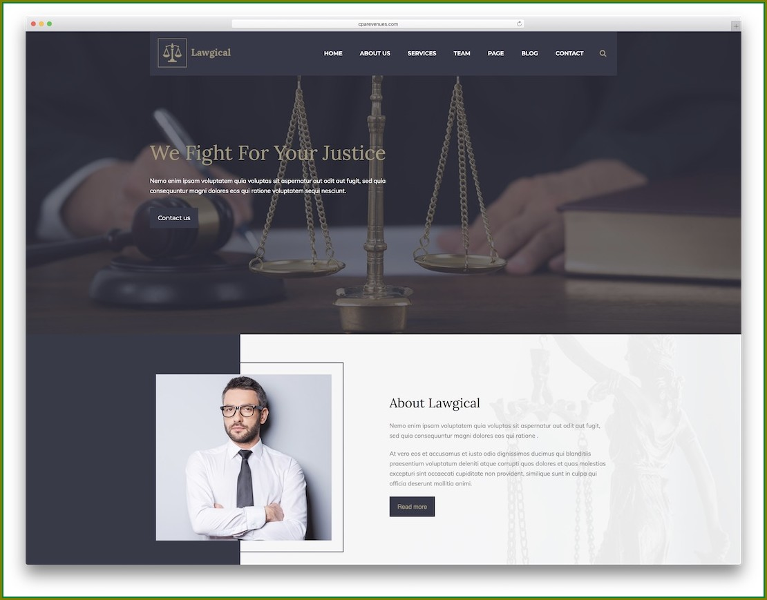 Lawyer Website Templates