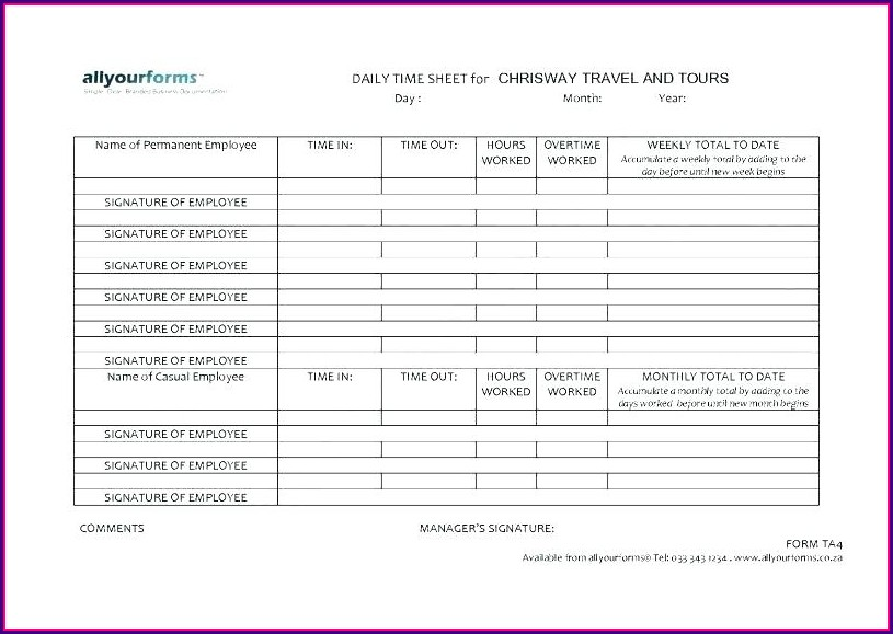 Legal Billable Hours Template