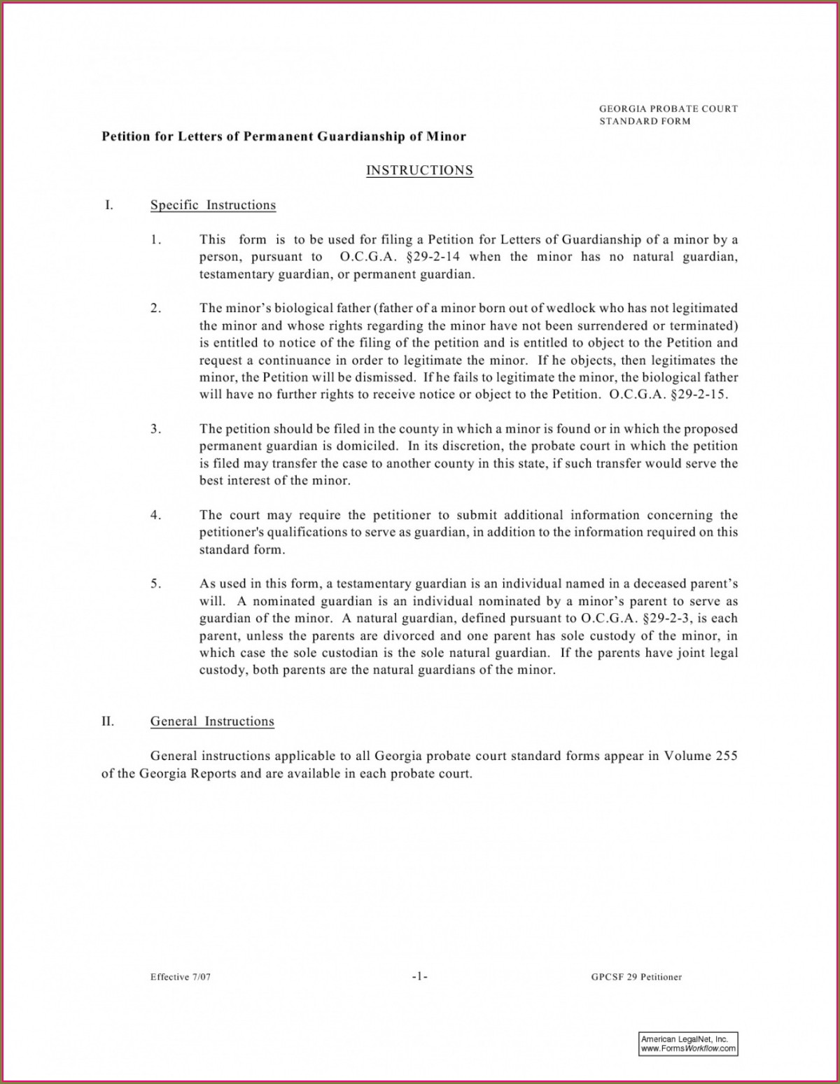 Legal Guardianship Permanent Guardianship Letter Template